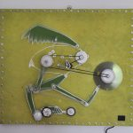 Stefan Radu Cretu - Lampyris Fatale, 2013, fiberglass electric components, 50x50 cm