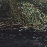 Maria M. Bordeanu - Mirror, 2015, oil on canvas, 60 x 100 cm