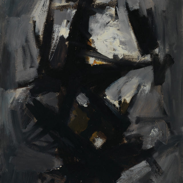 Andrej Jemec - Grey Day, 1960, oil on canvas, 110x75 cm