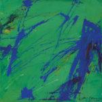 Andrej Jemec - Direct Record with Ultramarine 1984, acrylic on canvas, 40x40cm