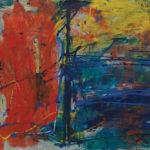 Andrej Jemec - Three, 1998, acrylic on paper, 70x100cm