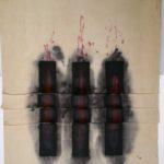 Vincentiu Grigorescu - Immaginario, 1973 - 1974, acrylic on canvas, 140x90 cm