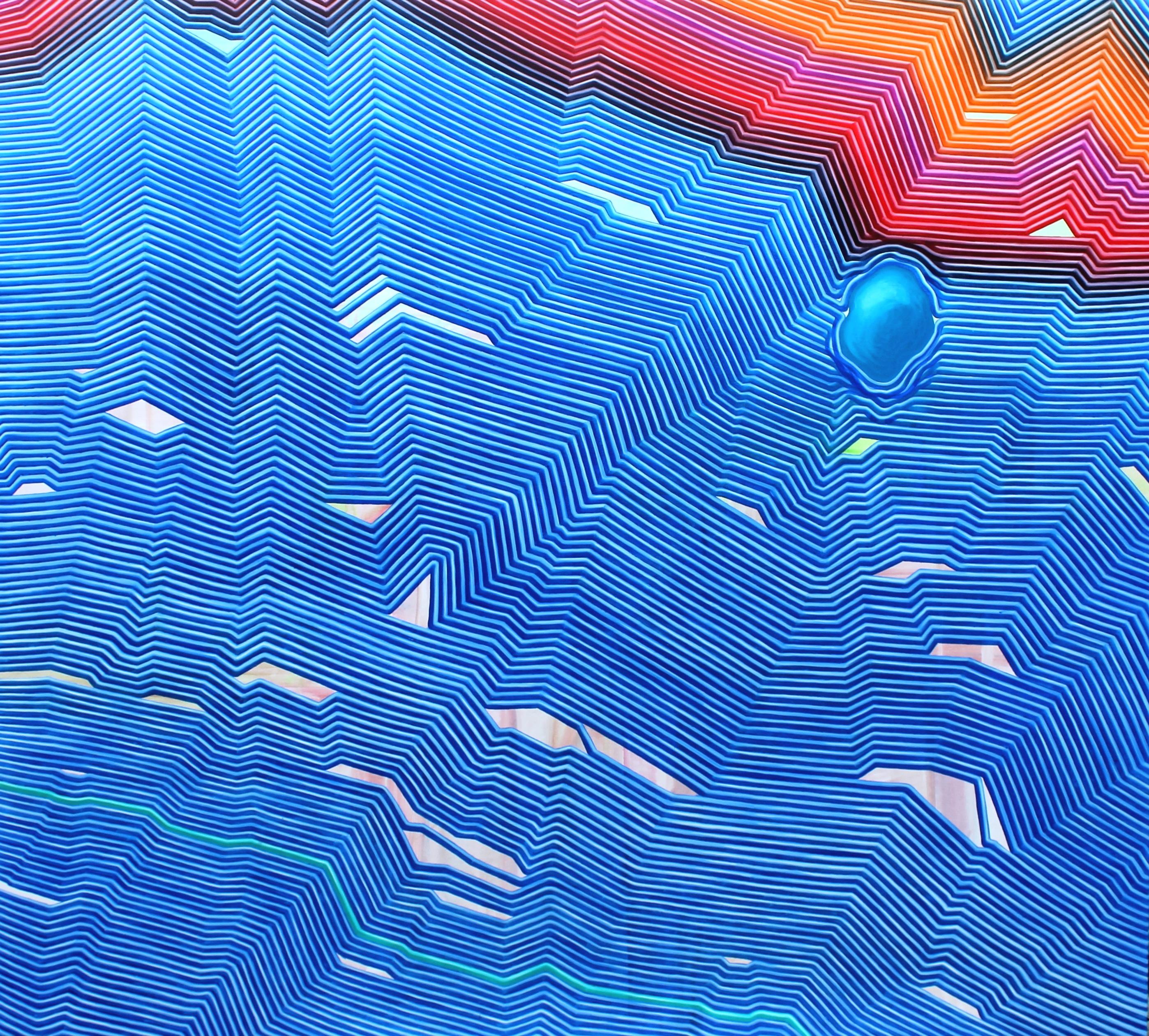 Full Blue, acrilyc and oil on canavas, 210x180cm, 2018