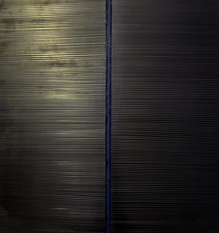 Vincentiu Grigorescu - Finestra Nera, 70s, oil on canvas, 60x60cm