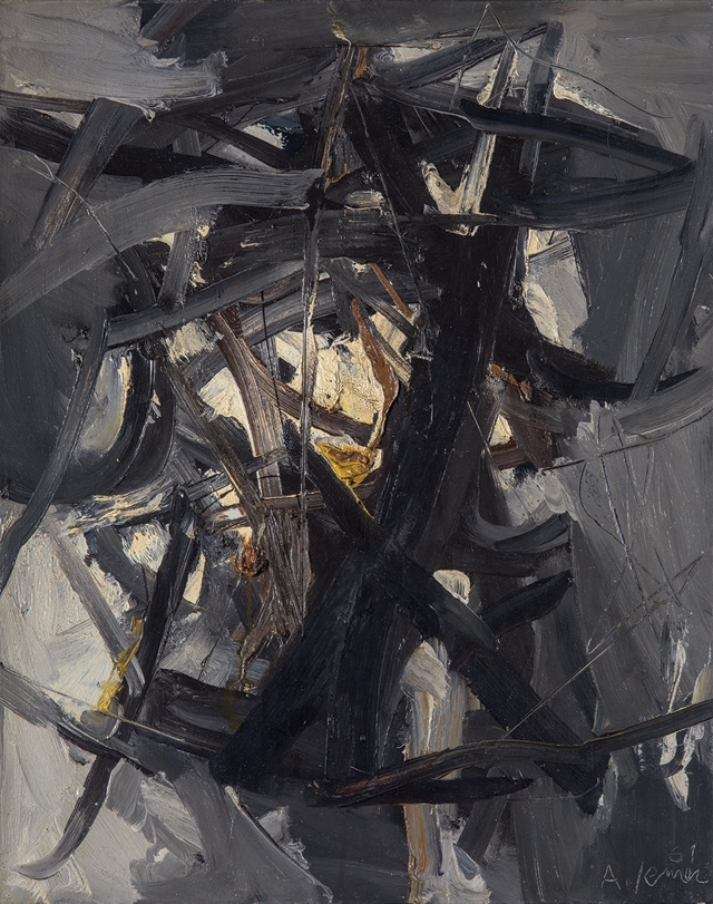 Andrej Jemec - Greyness, 1961, oil on canvas, 70x55 cm