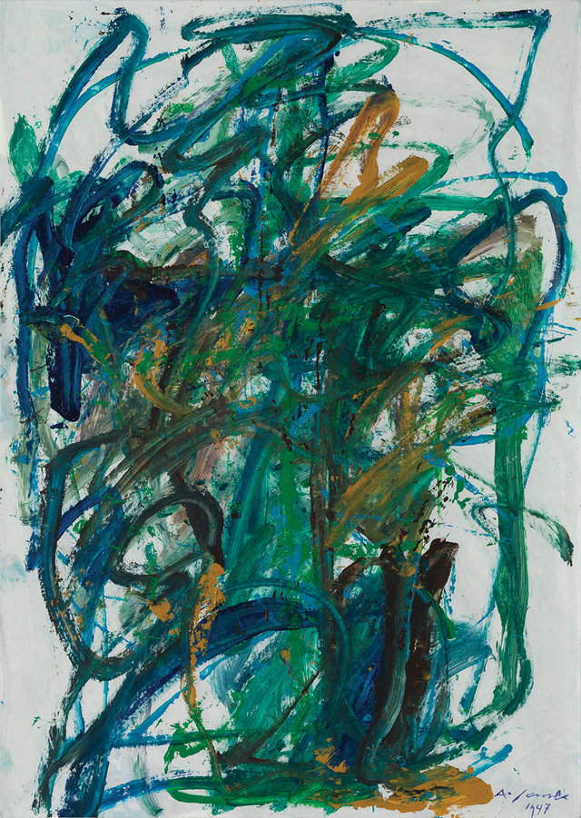 Andrej Jemec - Vienna Cycle 6, 1997, acrylic on paper, 100x70 cm