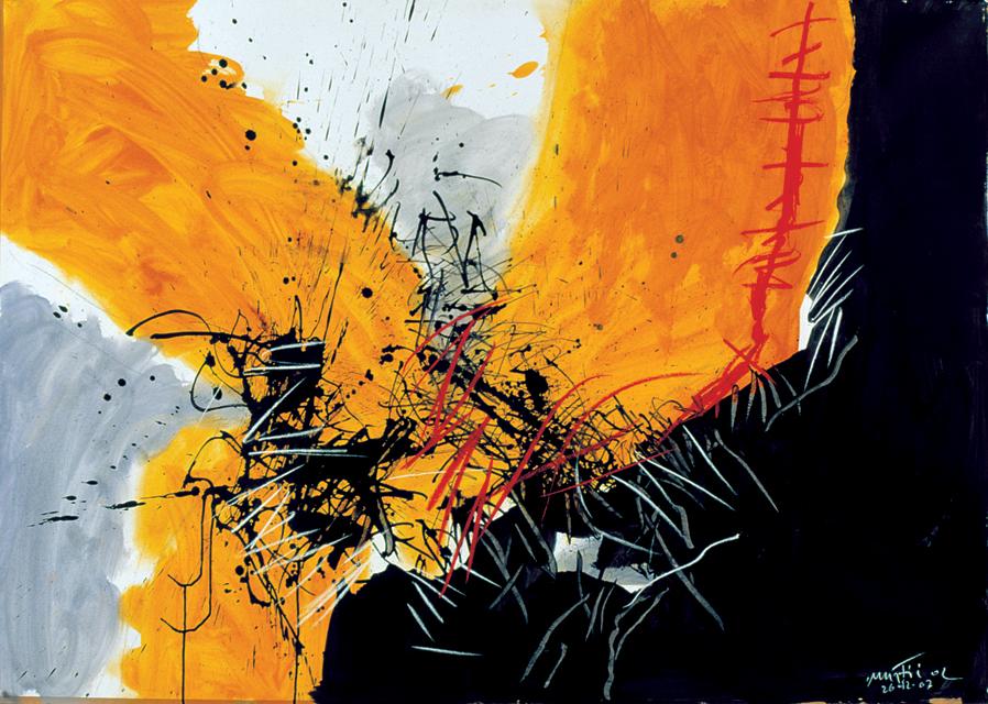 Edo Murtic - Untitled 1, 2004, gouache, 100X140