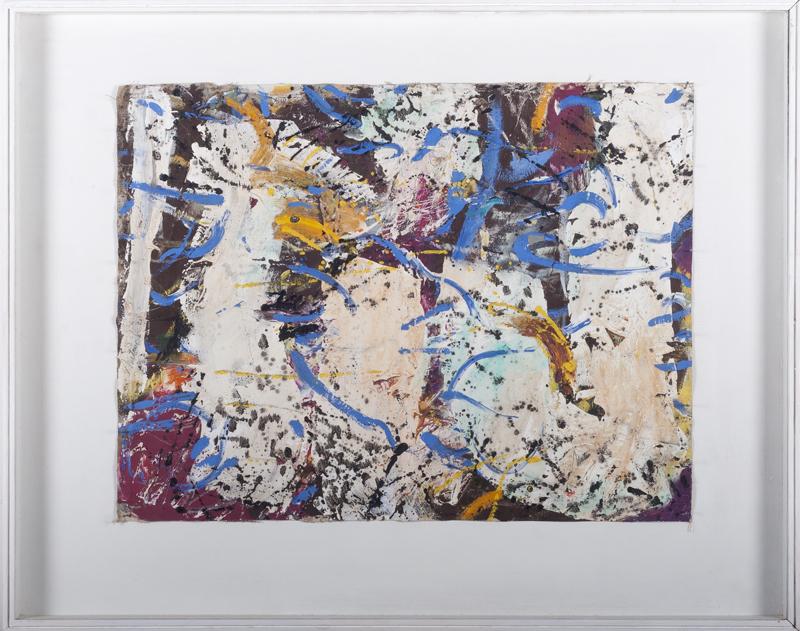 Romul Nutiu - Blue Origins, 1980, oil on canvas, 44x59 cm