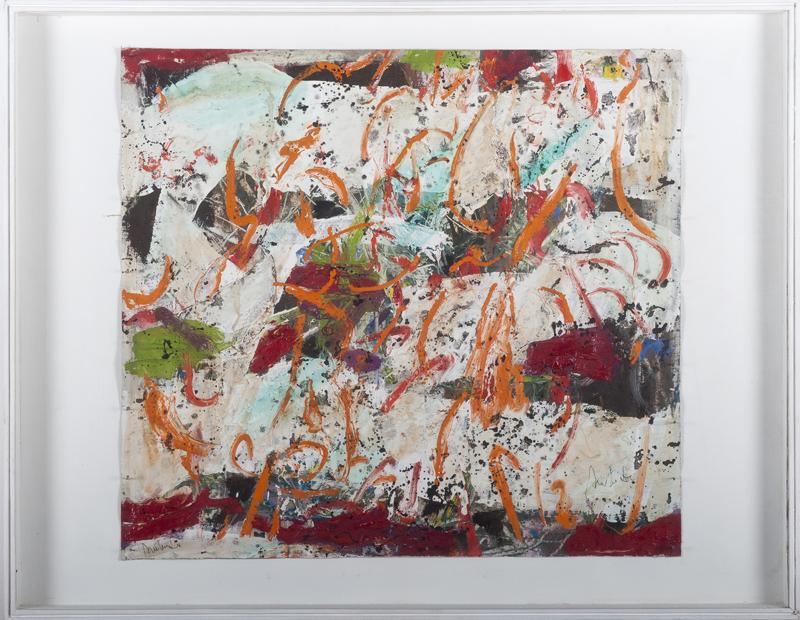 Romul Nutiu - Orange Origins, 1980, oil on canvas, 51x57 cm