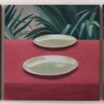 Maria M. Bordeanu - The Dinner, 2017, oil on canvas, 50 x 150 cm
