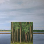 Maria M. Bordeanu - The Window, 2018, oil on canvas, 120 x 120 cm