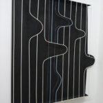 Albert Kaan - UNTITLED, 2018, wire, steelboard, paint, el-wire, 130x100 cm