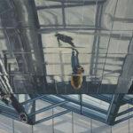 Maria M. Bordeanu - Transit, 2019, oil on canvas, 60cm x 100 cm