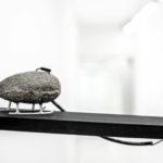 Stefan Radu Cretu - Captivity, 2017, stone, wood, electric wire, 40x10x15 cm