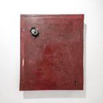 Stefan Radu Cretu - Heliobacteria, 2017. fiberglass, wood, stone, 50x60x8 cm