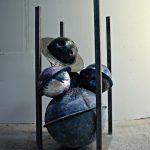Cristian Raduta - Archive, 2015, resin and iron, 150 x 70 x 70 cm