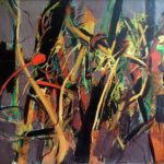Romul Nutiu - Underground Vegetal Structure XIV, 1985, oil on canvas, 99x110 cm