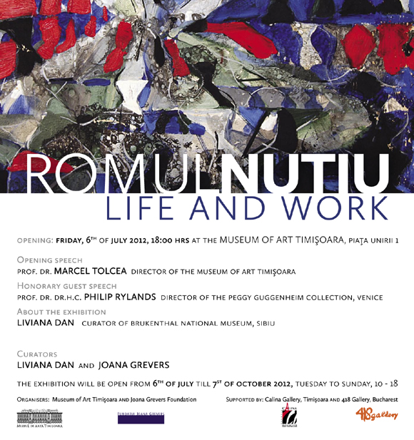 Life and Work | Romul Nutiu | Museum of Art Timisoara | 418GALLERY