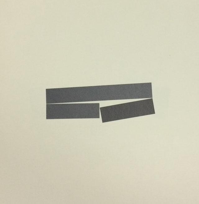 Drei Streifen 1983, collage on paper, 20 x 20 cm