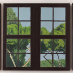 Maria M. Bordeanu - The View, 2017, oil on canvas, 50 x 150 cm