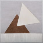 Vincentiu Grigorescu - GIOCO GEOMETRICO 3, 1980, oil on canvas on wooden panel, 100x100cm