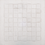 Vincentiu Grigorescu, INTRECCIO II, 1982-1986, acrylic on wooden panel, 80 x 80 cm