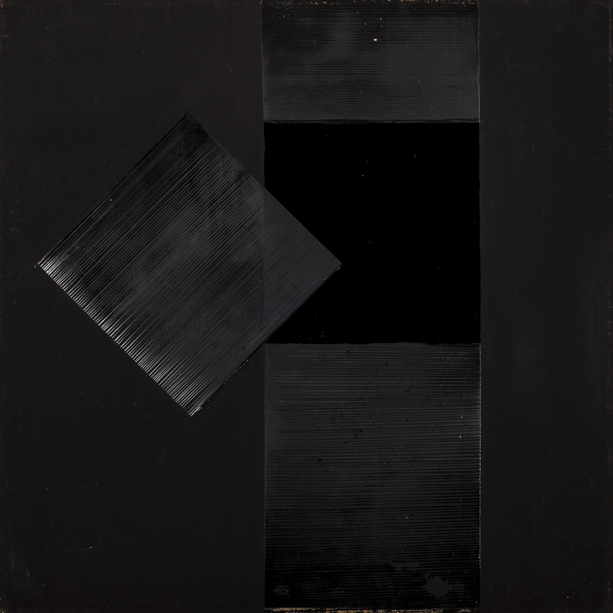 Vincentiu Grigorescu - Apertura del Quadrato, 1970, oil on cardboard,68 x 68 cm