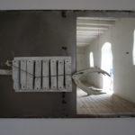 STEFAN RADU CRETU - FREE TO BE CAPTIVE, 2019, metal, mirror, AAC,100x151x20 cm