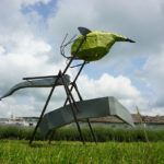 STEFAN RADU CRETU - SWING FOR MONSTERS, 2019, metal, fiberglass, 400x400x120 cm