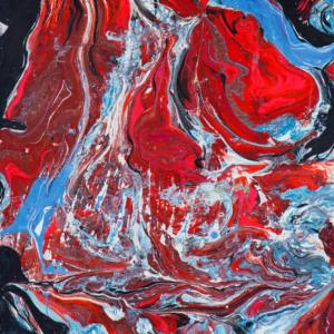 Romul Nutiu - DYNAMIC UNIVERSE XXIV, 1969, 120 x 120 cm, mixed technique on canvas