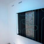 Albert Kaan - UNTITLED, 2018, wire, steelboard, paint, el-wire, 100x150 cm