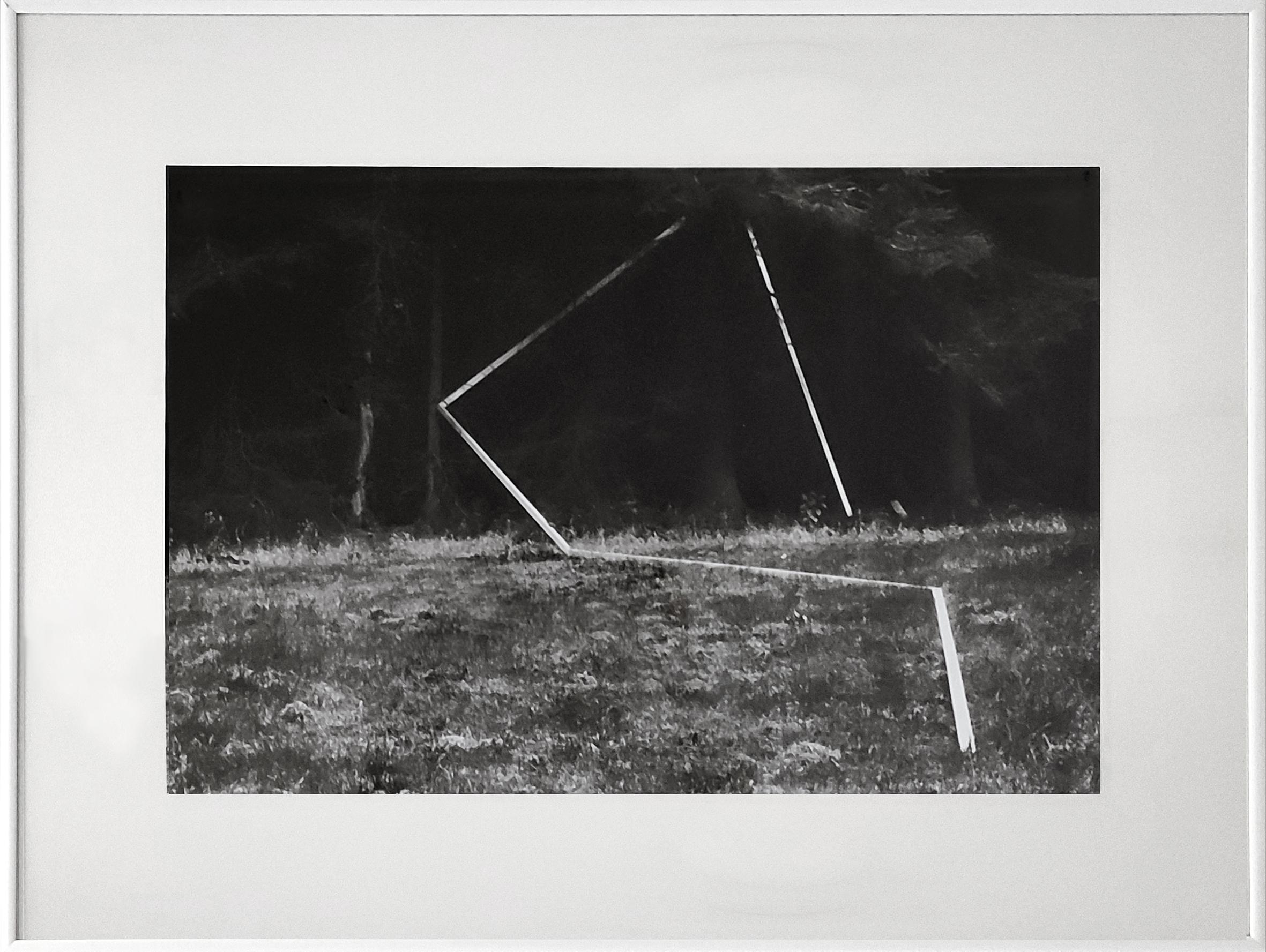 Diet Sayler, Waldraum IV., 1980, Installation, Odenwald, Fotografie, 40x60cm | 62x81cm, Edition 1:7