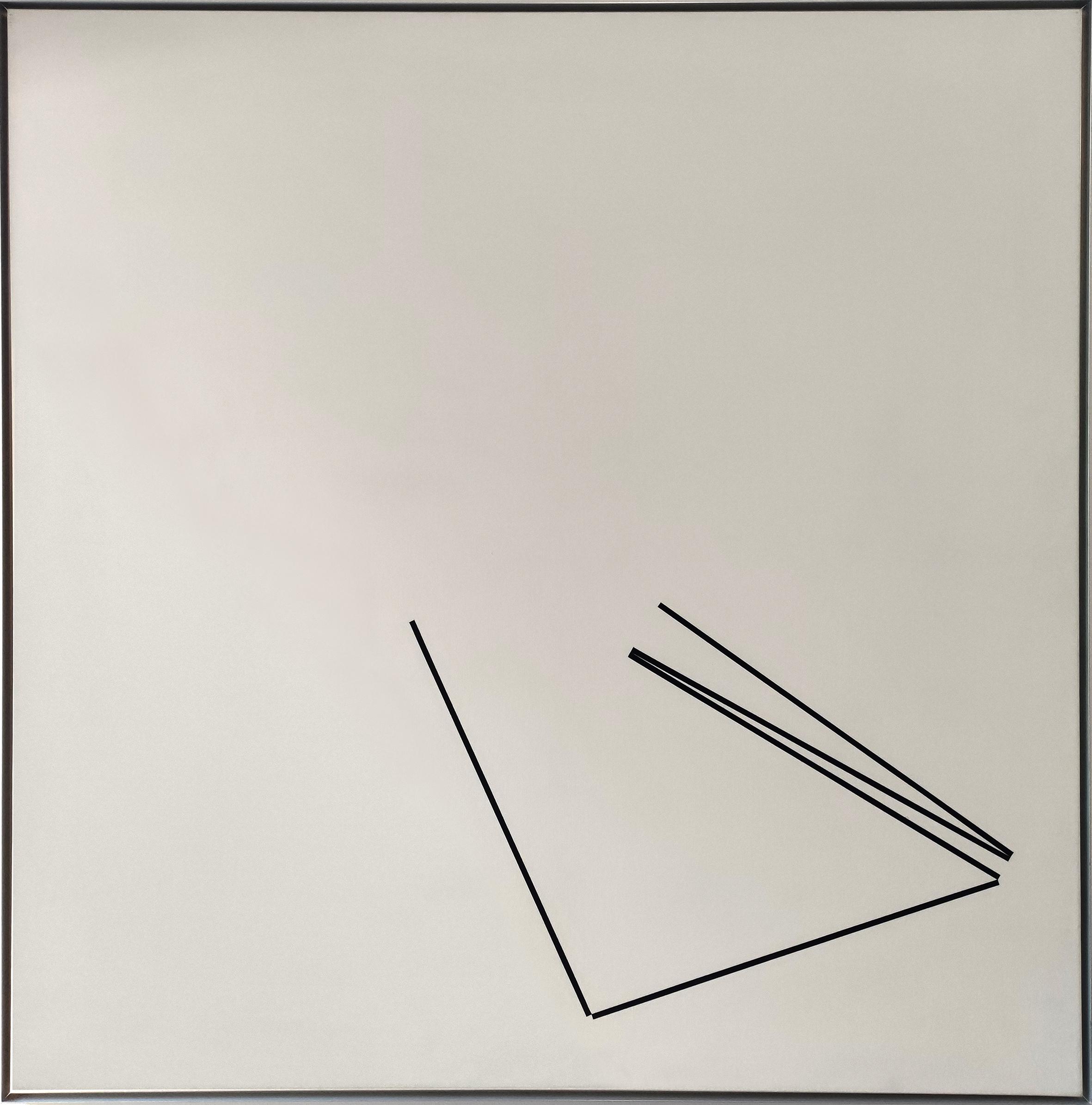 Diet Sayler, Variation W-2, 1975, Acryl auf Leinwand, 140x140cm
