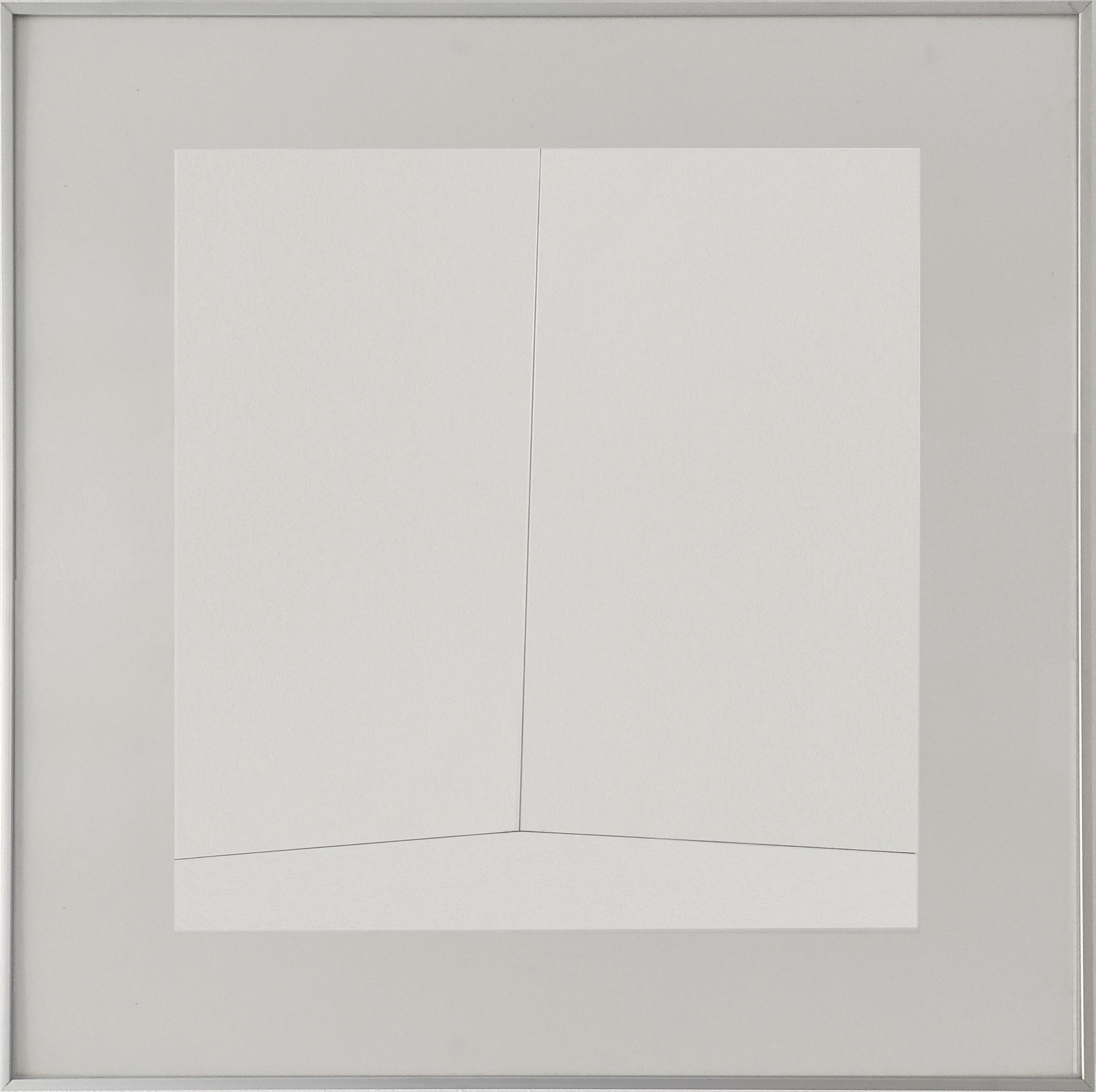 Diet Sayler, Veränderung 11, 1978, Tusche auf Bütten, 48x48 cm | Alu 70x70cm