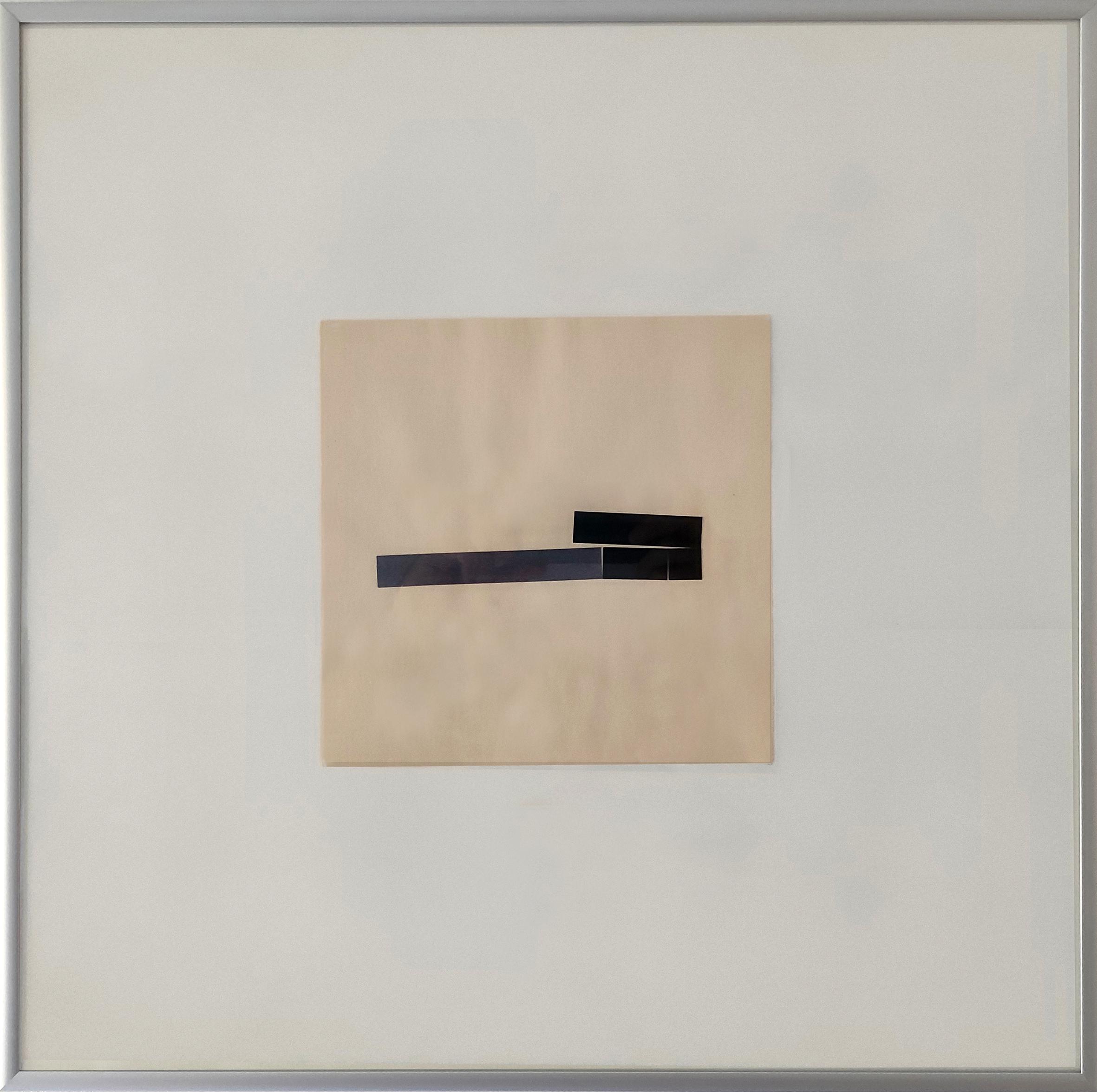 Diet Sayler, Capriccio 1983:06:10-4, Collage auf Bütten, 21x21 cm | Alu 50x50 cm