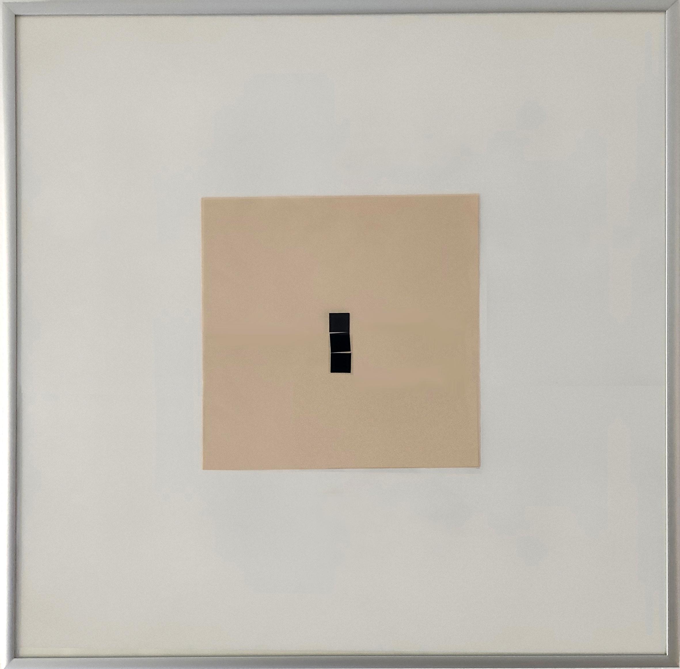 Diet Sayler, Capriccio 1982:03:23, Collage auf Bütten, 21x21 cm | Alu 50x50 cm