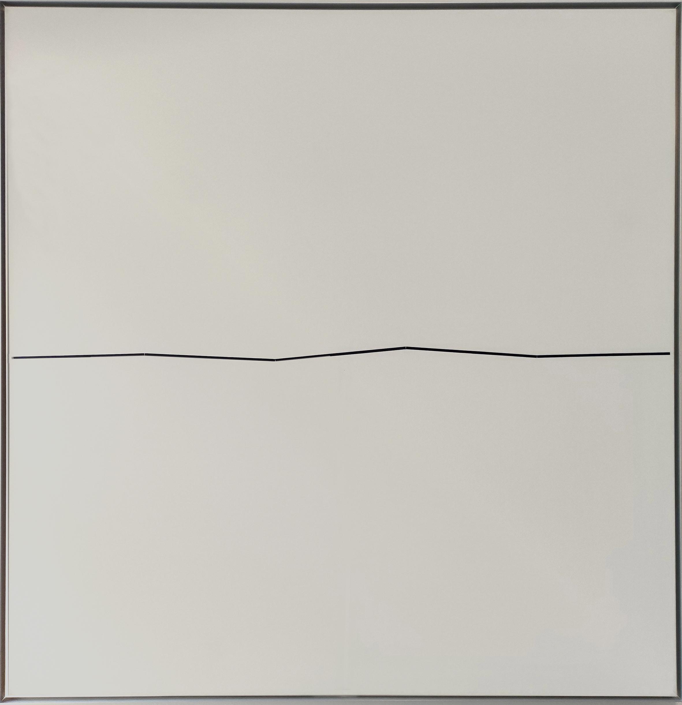 Diet Sayler, Fünf Linien, 1977, Acryl auf Leinwand, 140x140 cm